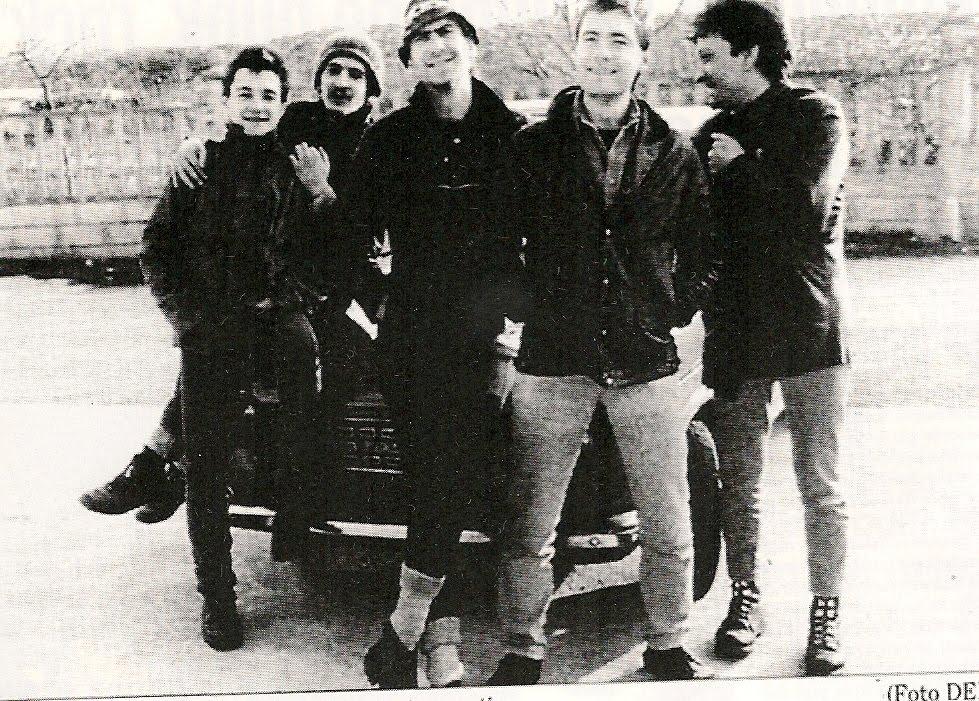 Foto antigua del grupo La Polla Records