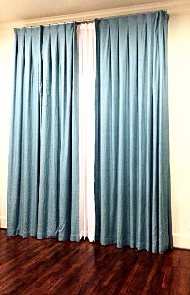 Custom Draperies With Inverted Pleats