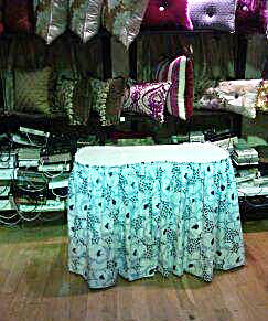 Custom Table Skirt - Barrera's Draperies Plus