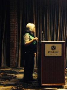 Marie presenting in Pasco, WA
