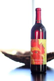Peckerhead Red Bottle Label Grace Hill Winery