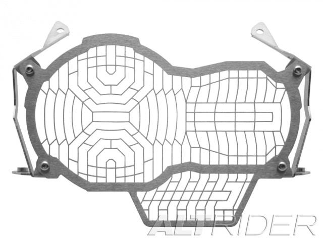 AltRider Stainless Steel Mesh Headlight Guard Extended Kit