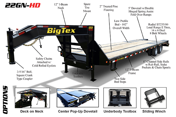 big tex trailer 7 pin wiring diagram mtd snow thrower parts toyskids co gooseneck trailers in frederick md barrick harness