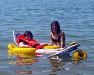 Tiralo im Wasser