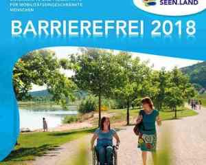 Deckblatt der Broschüre Seenland-Barrierefrei-2018