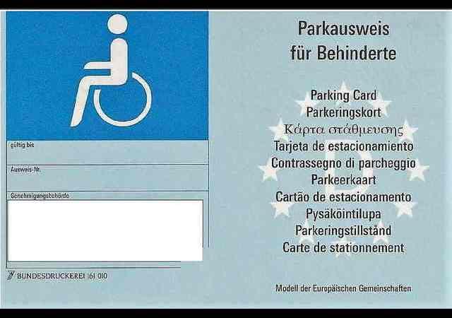 Europäischer Parkausweis