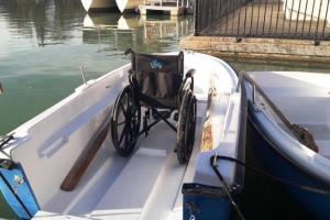 Ruderboot für Rollis