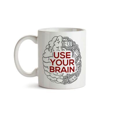 Caneca Use Your Brain - Cérebro - Coleção Office Station - Barril Criativo