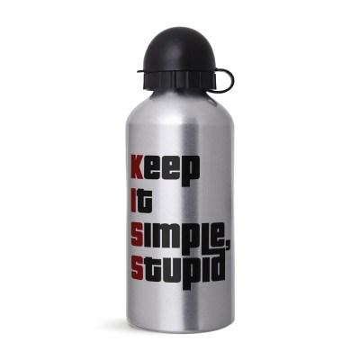 Garrafa KISS - Simplicidade - Coleção Office Station - Barril Criativo
