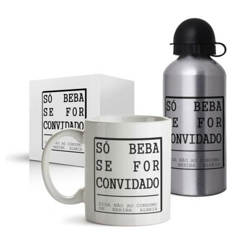 Kit Do Convidado - Bebida - Coleção Office Station - Barril Criativo