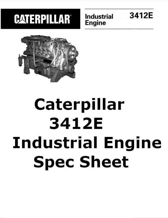 CAT 3408 and CAT 3412 manuals, spec sheets