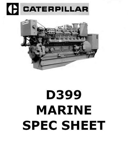 Caterpillar diesel engine specs