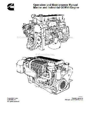 CUMMINS OPERATION AND MAINTENANCE MANUAL B SERIES ENGINES
