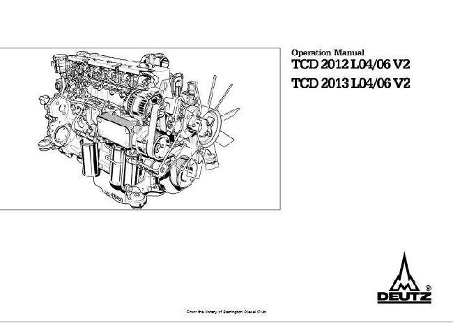 Deutz 2012, 2013 Diesel Engine specs, bolt torques, manuals