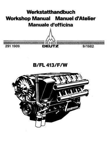 Deutz 413 specs, manuals and bolt tightening torques