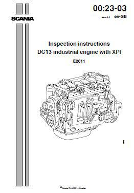 Scania DC13 engine specs, bolt torques, manuals