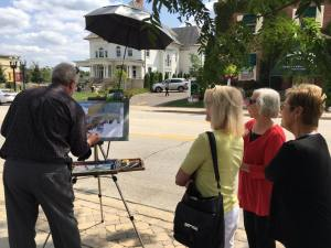 Plein Air Painting in Barrington, Illinois