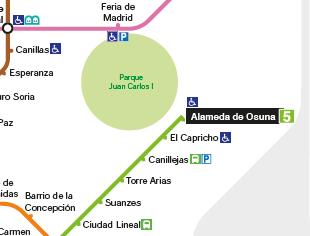 plano esquemático red de metro