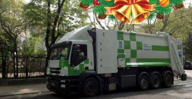 recogida basuras navidad