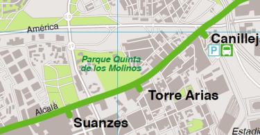 Quinta de los Molinos en Metro