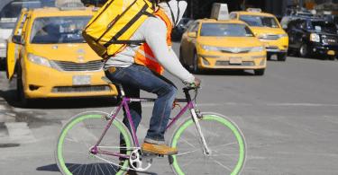 mensajero bicicleta