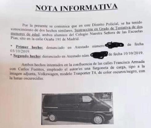 secuestro niños madrid