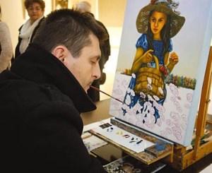 Artista con discapacidad