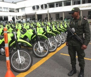 Motocicletas de la Policía Metropolitana de Bogotá