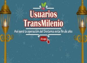 TransMilenio fin de año