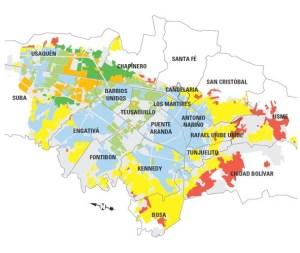 Sectores peligrosos de Bogotá