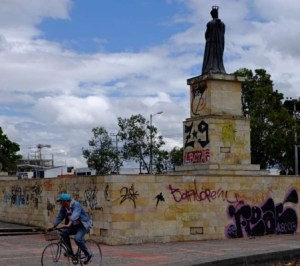 Vándalos en Bogotá