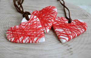Red Thread Heart Pendant