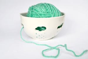 Blue Clouds Yarn Bowl