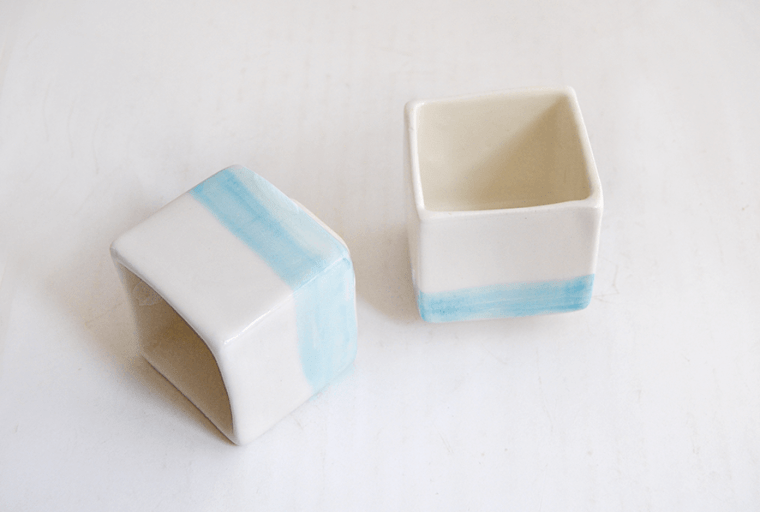 Tazas Japonesas Cubo Azules