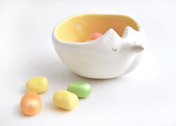 Cuenco Ceramica Zorrito Amarillo