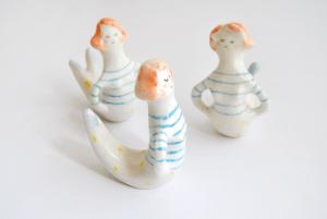 Miniatura Sirena rayas Ceramica