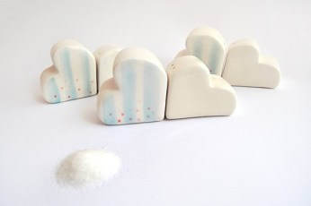 Striped Clouds Salt and Pepper Shakers