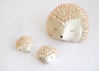 Ceramic Hedgehog Miniature