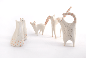Ceramic Cat Miniatures