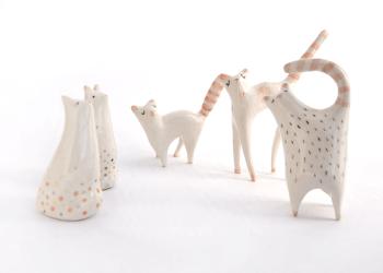 Ceramic Cat Miniatures