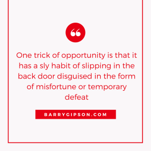 Opportunity, Knock, Luck, Preparation, Death