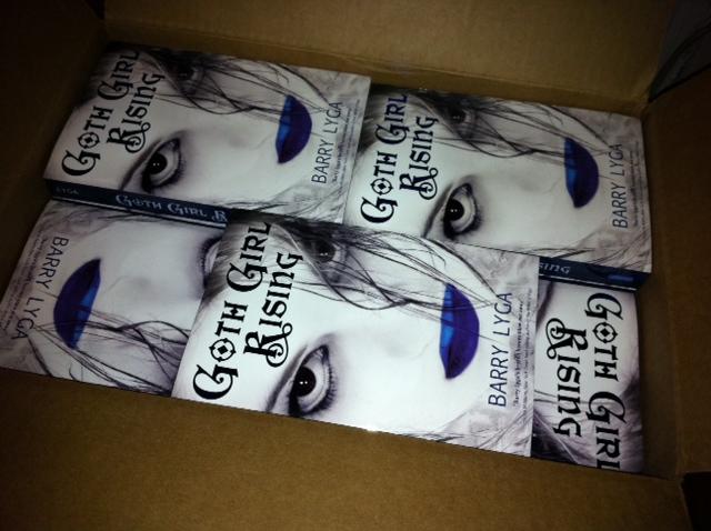 Goth Girl Rising paperback in box.