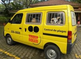 an exterminator truck