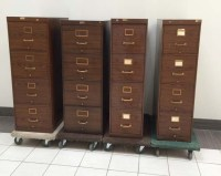 Wood Grain Vertical File Cabinet, Office Rental Files ...
