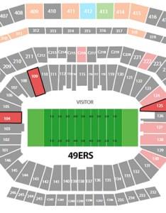 ers levis stadium seating chart also barrystickets rh
