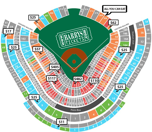 Dodger Stadium Detailed Seating Chart Www