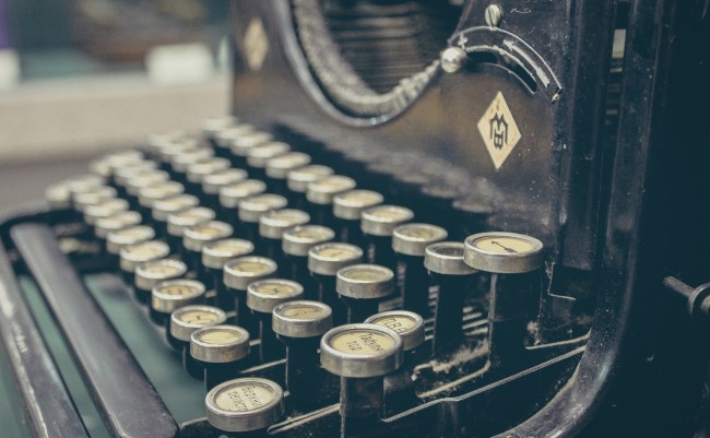 Code the OG way: old-fashioned typewriter