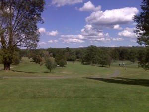 My view on the 1st Tee at Knoll East Golf Course in Parsippany, NJ