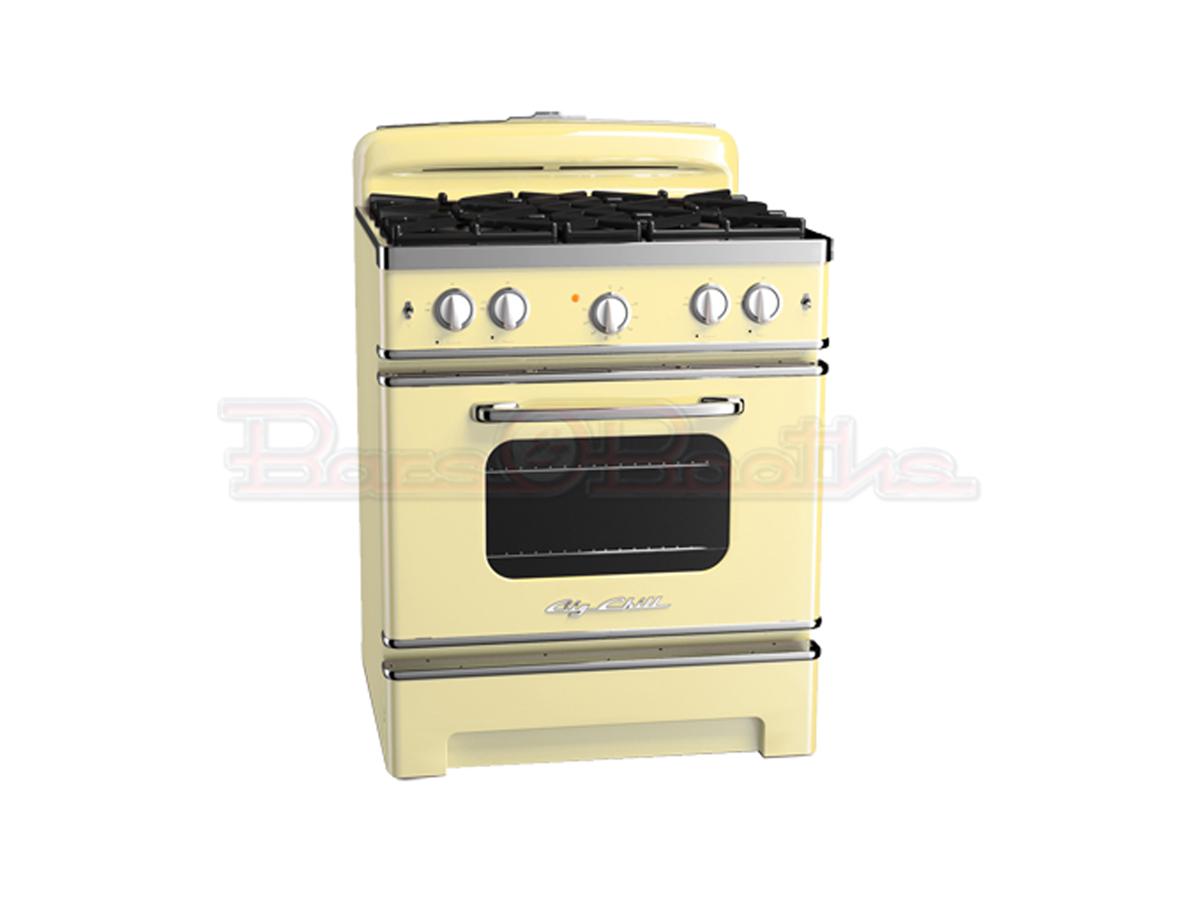 yellow kitchen appliances outdoor flat top grill retro big chill refrigerators