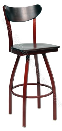 Kidney Back Bow-Frame Cafe Stool | Bar Stools and Chairs